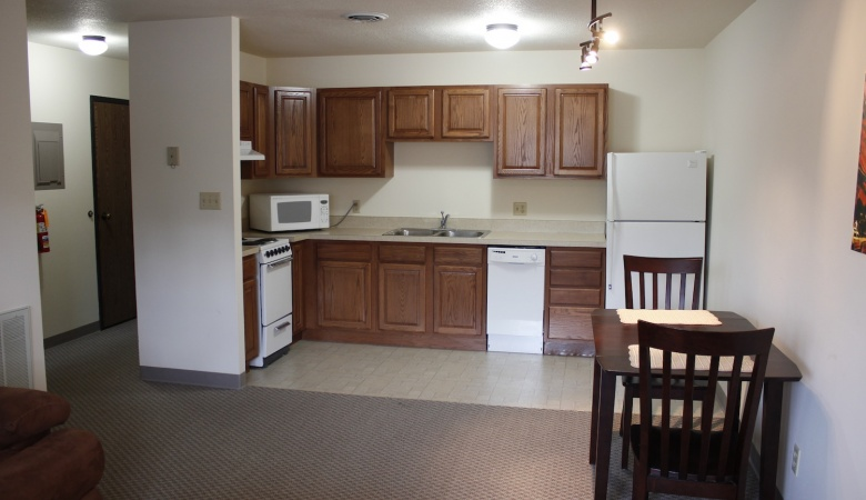 Kitchen in most 2 BR & all 1 Bedroom apartments